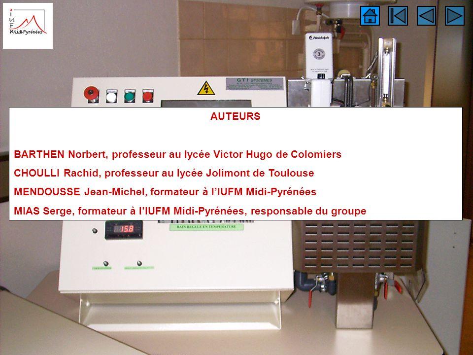 auteurs AUTEURS. BARTHEN Norbert, professeur au lycée Victor Hugo de Colomiers. CHOULLI Rachid, professeur au lycée Jolimont de Toulouse.