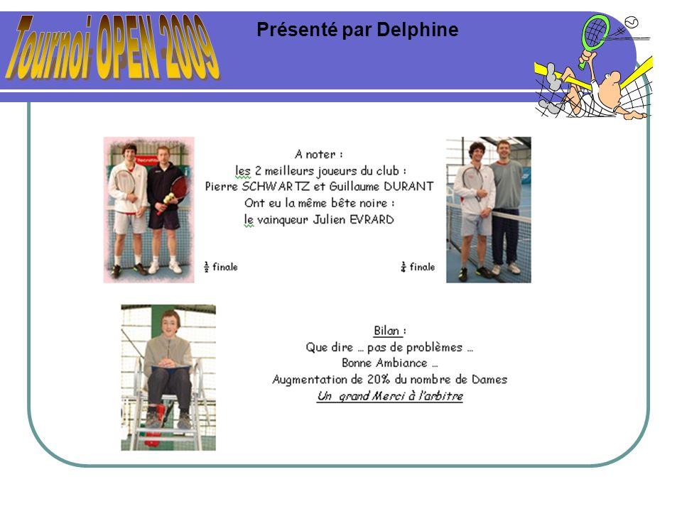 Tournoi OPEN 2009 Présenté par Delphine