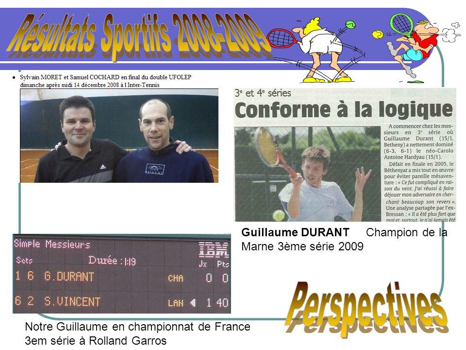 Résultats Sportifs 2008-2009 Perspectives