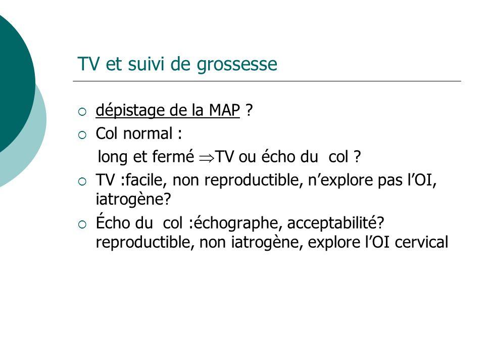 TV et suivi de grossesse