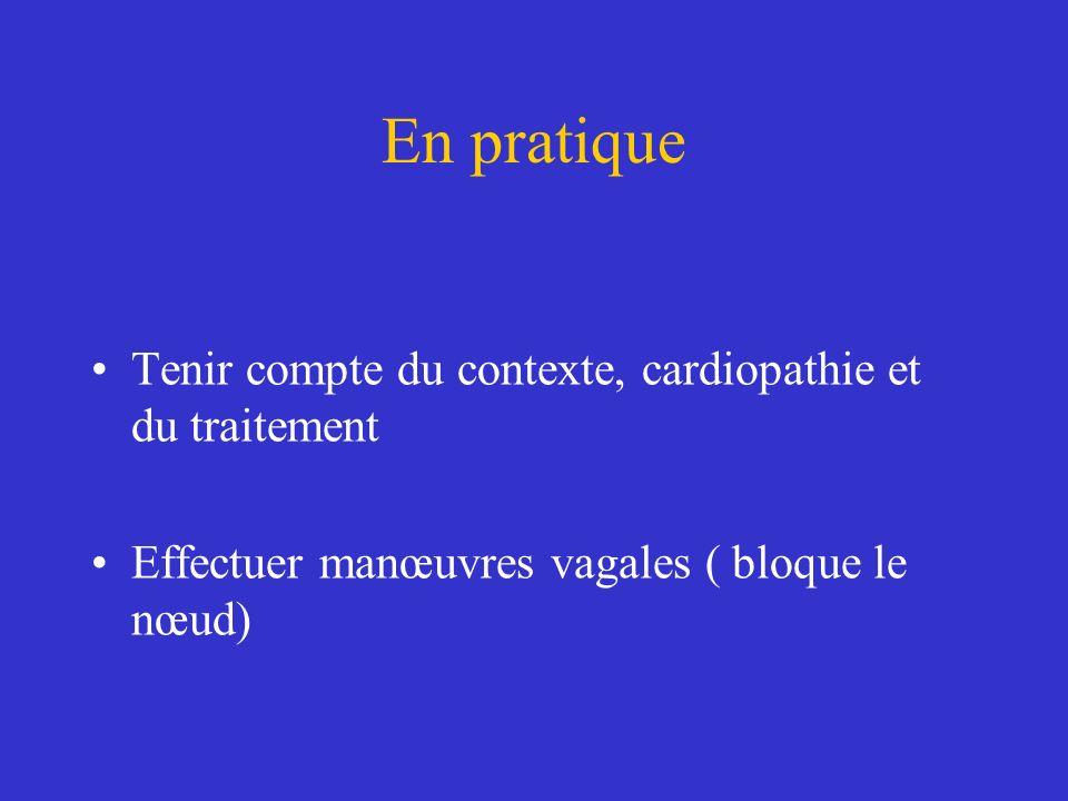 En pratique Tenir compte du contexte, cardiopathie et du traitement