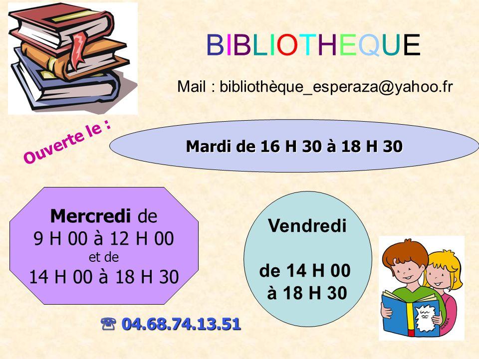 Mail : bibliothèque_esperaza@yahoo.fr