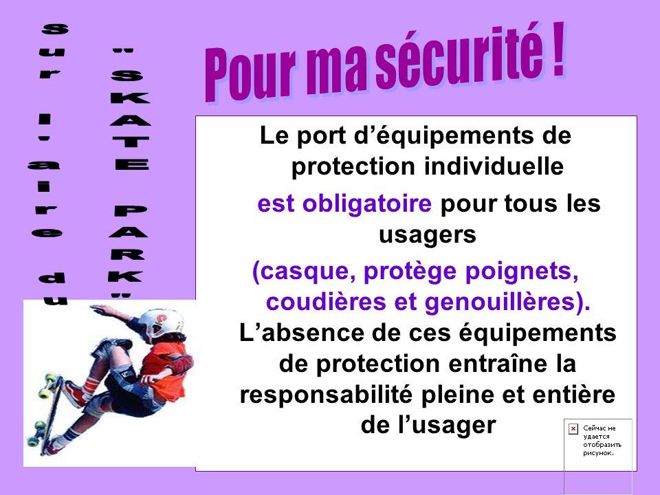 Le port d'équipements de protection individuelle