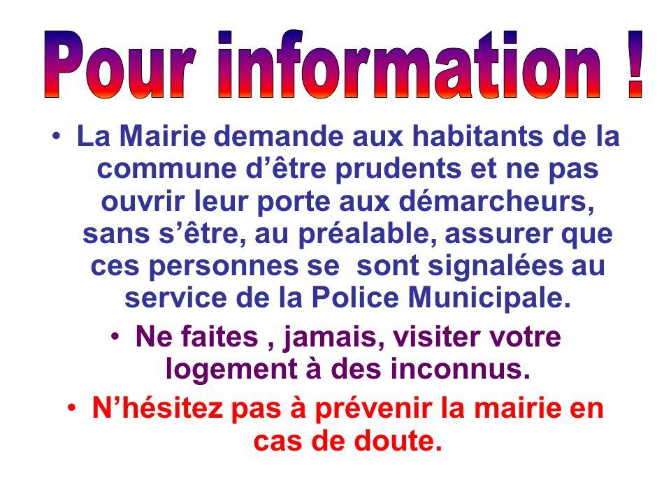 Pour information !
