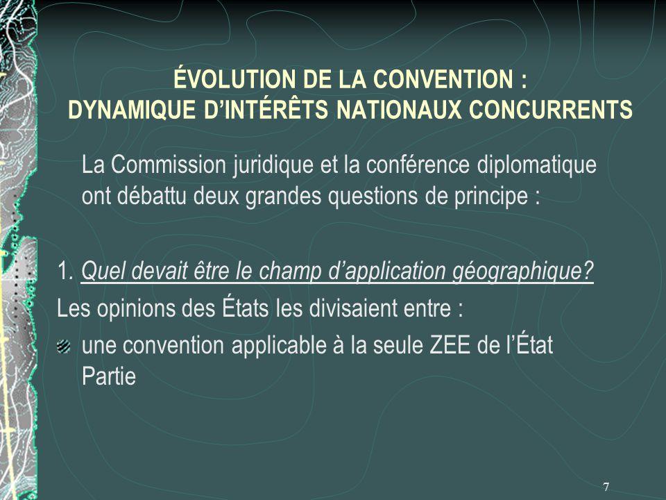 ÉVOLUTION DE LA CONVENTION : DYNAMIQUE D'INTÉRÊTS NATIONAUX CONCURRENTS