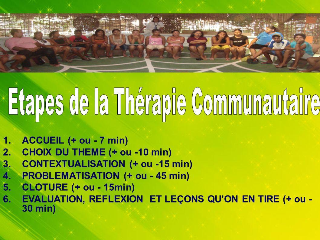 Etapes de la Thérapie Communautaire