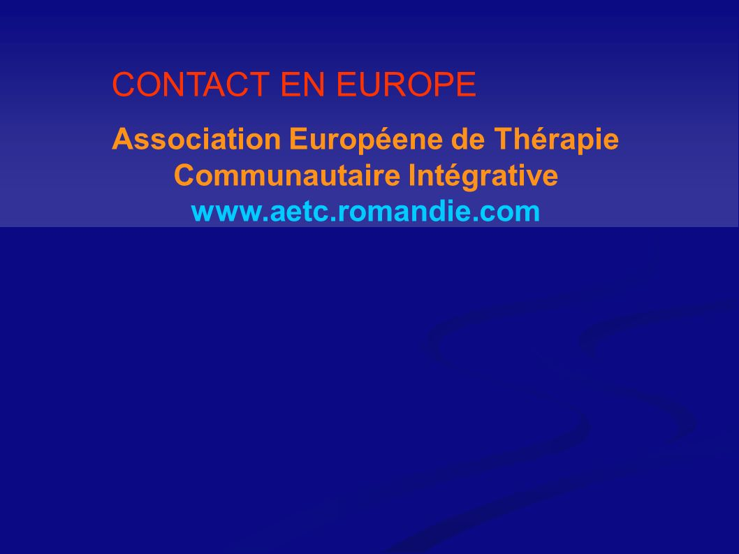 Association Européene de Thérapie Communautaire Intégrative
