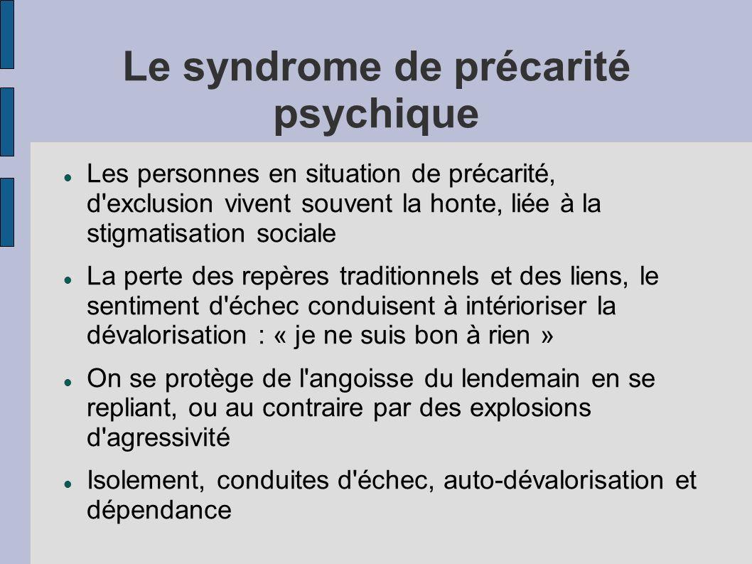 Le syndrome de précarité psychique