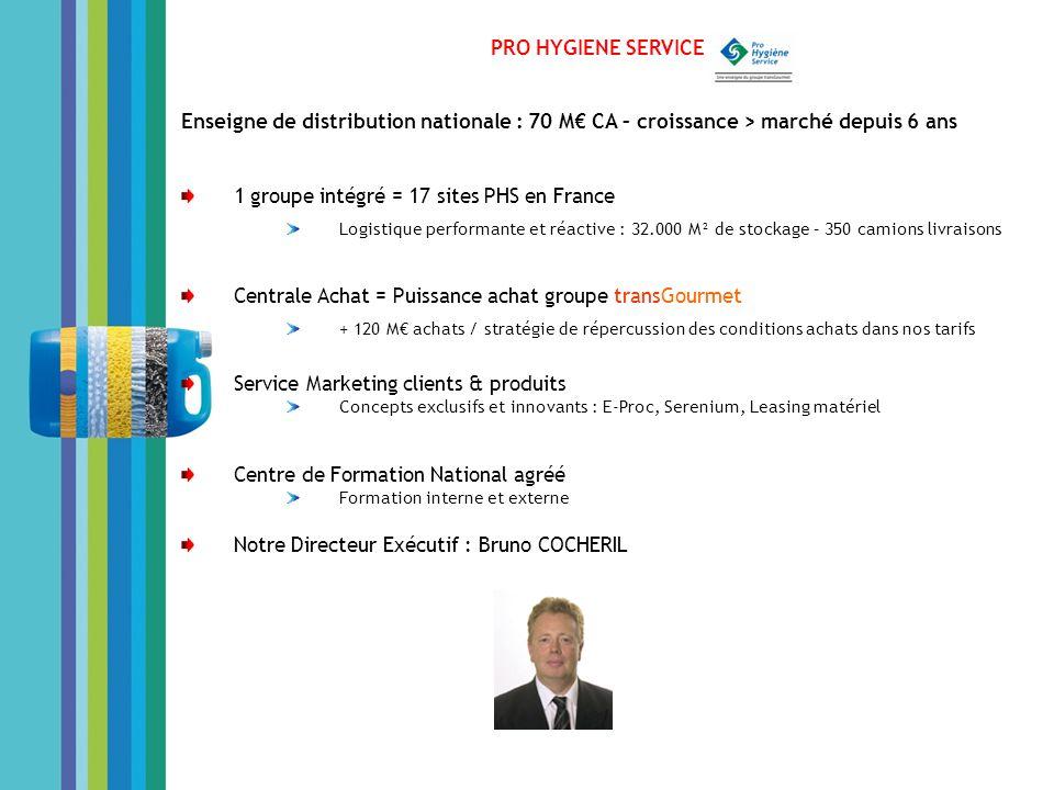 1 groupe intégré = 17 sites PHS en France