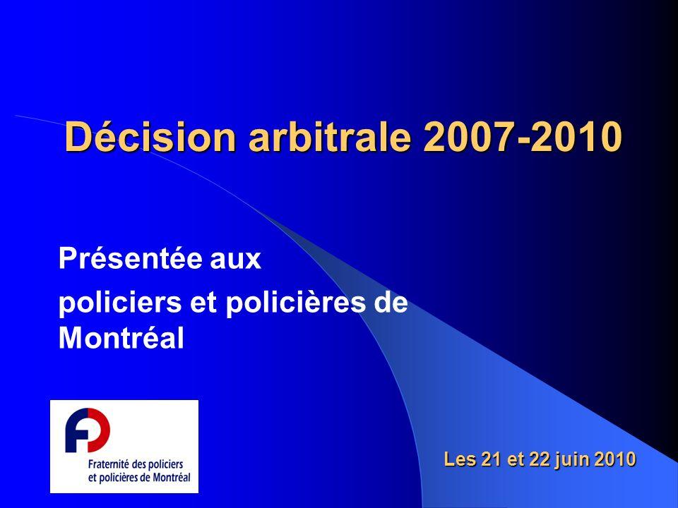 Présentée aux policiers et policières de Montréal