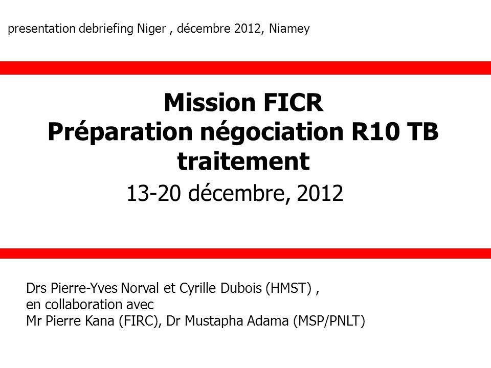 Préparation négociation R10 TB traitement