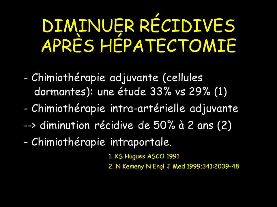 DIMINUER RÉCIDIVES APRÈS HÉPATECTOMIE