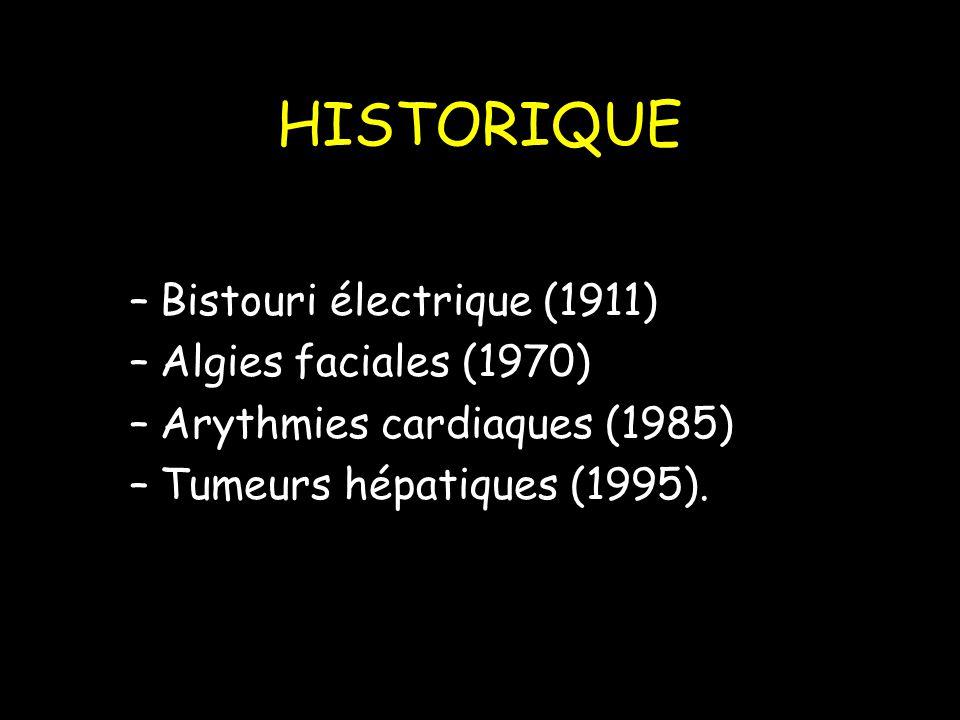 HISTORIQUE Bistouri électrique (1911) Algies faciales (1970)