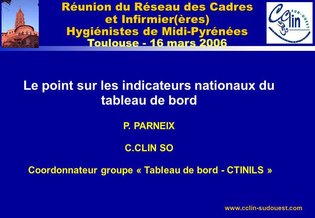 Réunion du Réseau des Cadres et Infirmier(ères) Hygiénistes de Midi-Pyrénées Toulouse - 16 mars 2006