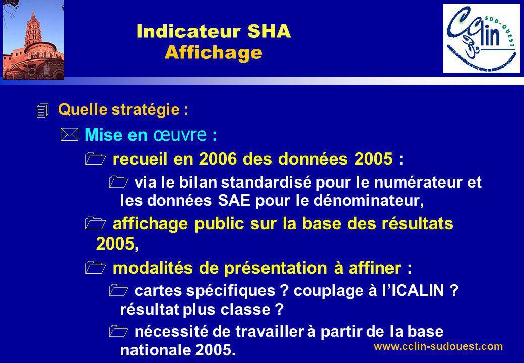 Indicateur SHA Affichage