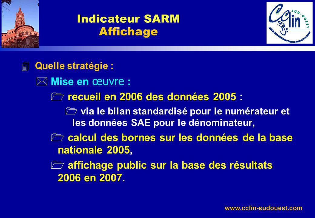 Indicateur SARM Affichage