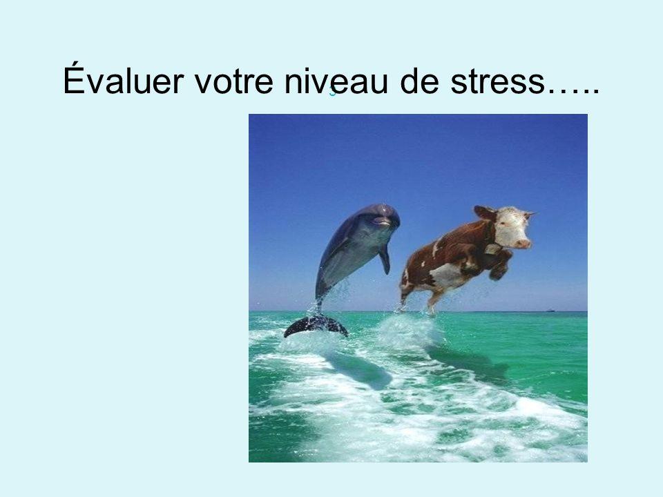 Évaluer votre niveau de stress…..