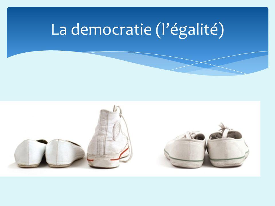 La democratie (l'égalité)