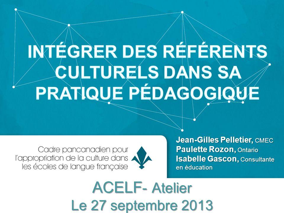 ACELF- Atelier Le 27 septembre 2013