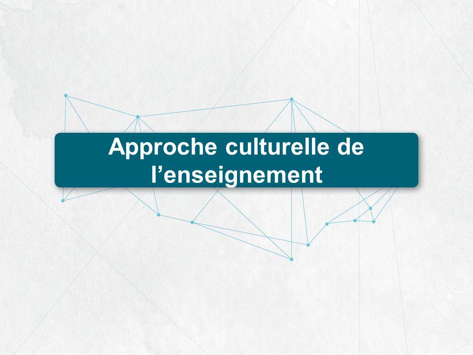 Approche culturelle de l'enseignement