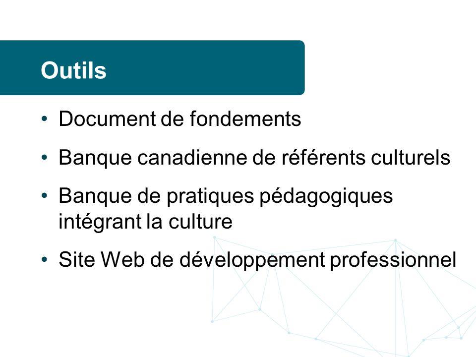 Outils Document de fondements Banque canadienne de référents culturels