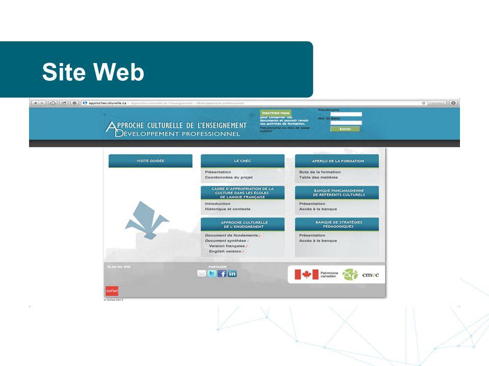 Site Web www.approcheculturelle.ca.