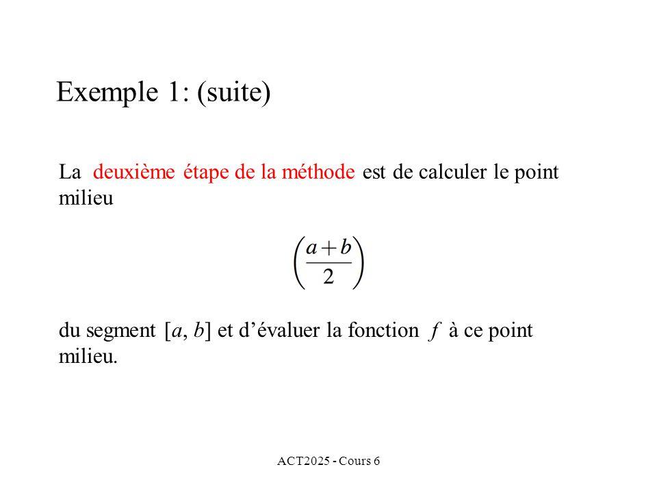 La deuxième étape de la méthode est de calculer le point milieu