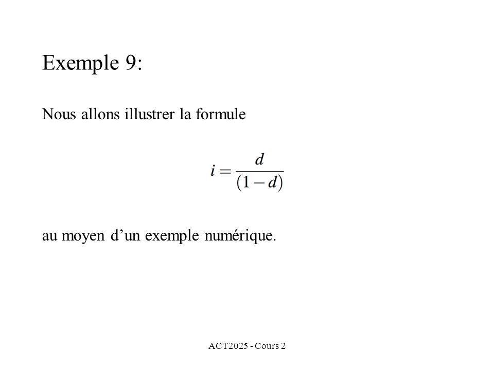 Nous allons illustrer la formule