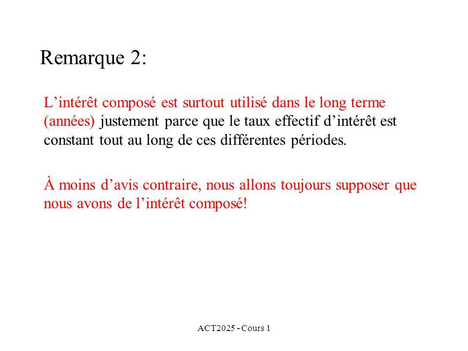 Remarque 2: