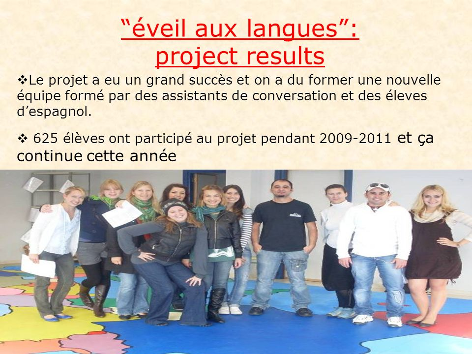 éveil aux langues : project results