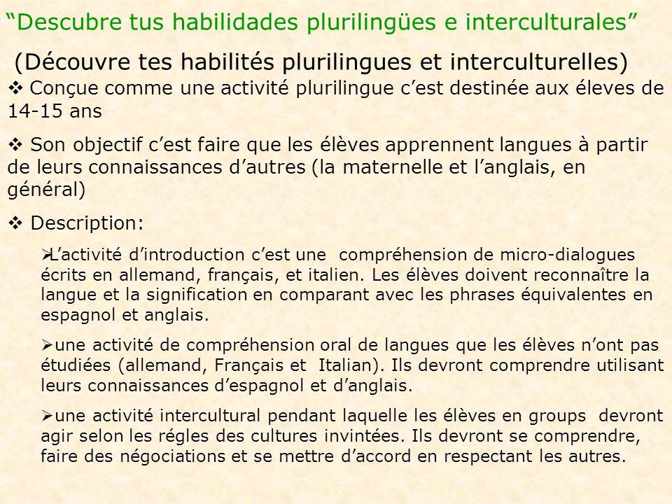 Descubre tus habilidades plurilingües e interculturales