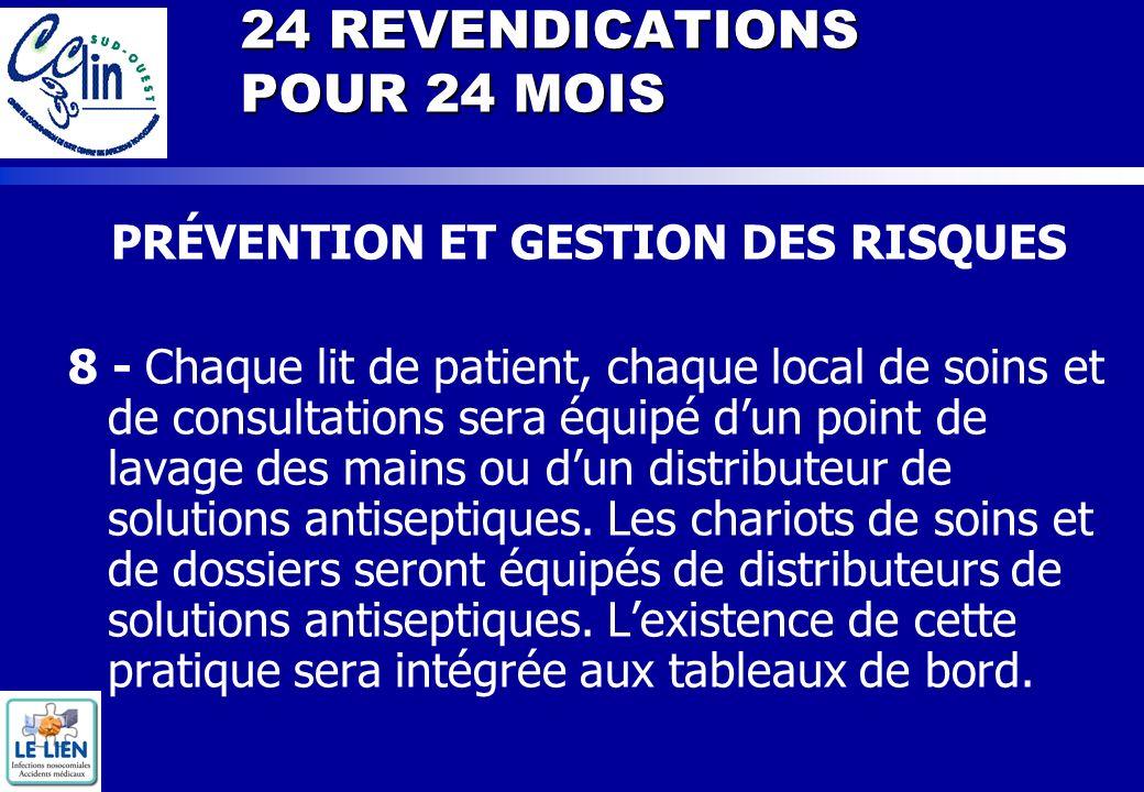 24 REVENDICATIONS POUR 24 MOIS