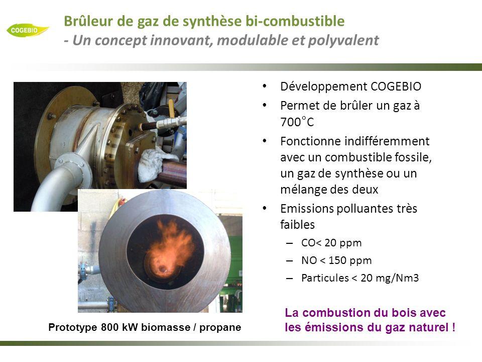 Brûleur de gaz de synthèse bi-combustible - Un concept innovant, modulable et polyvalent