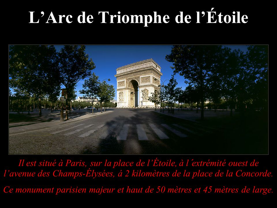 L'Arc de Triomphe de l'Étoile