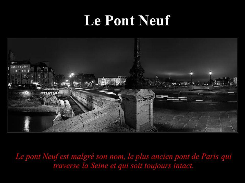 Le Pont NeufLe pont Neuf est malgré son nom, le plus ancien pont de Paris qui traverse la Seine et qui soit toujours intact.