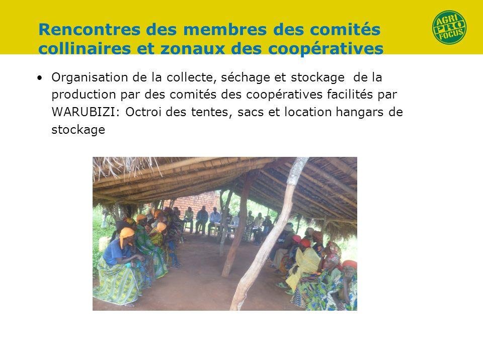 Rencontres des membres des comités collinaires et zonaux des coopératives