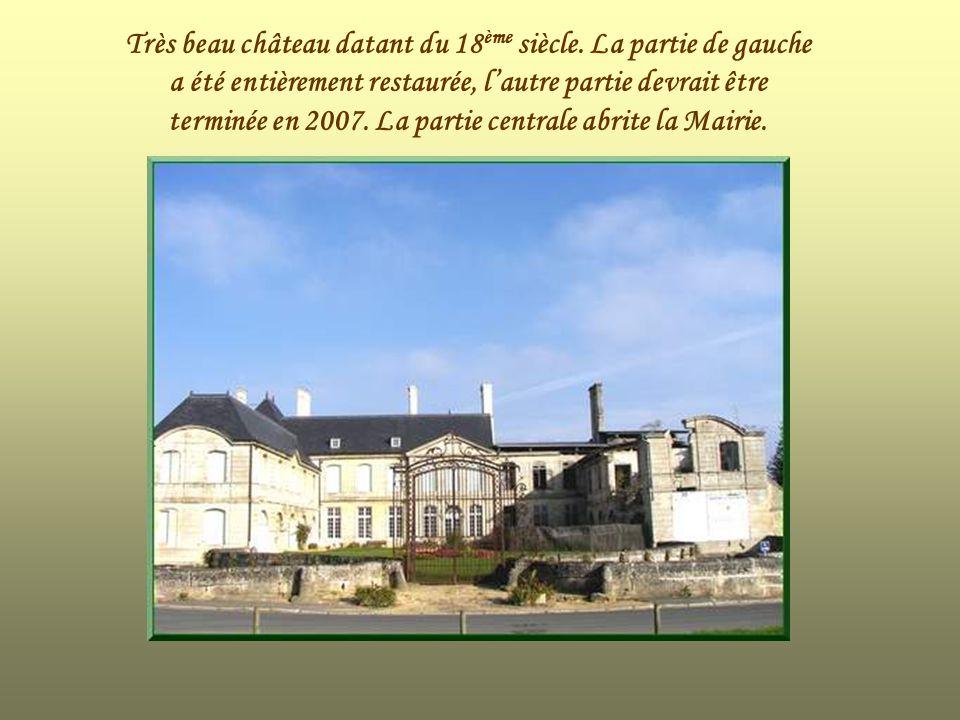Très beau château datant du 18ème siècle