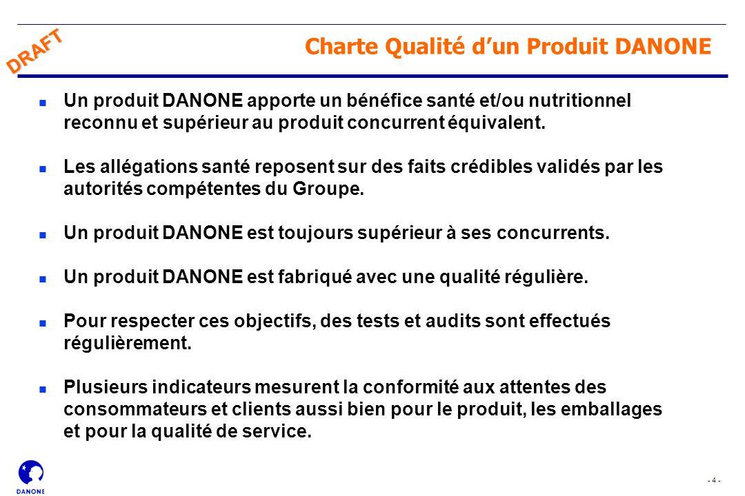 Charte Qualité d'un Produit DANONE