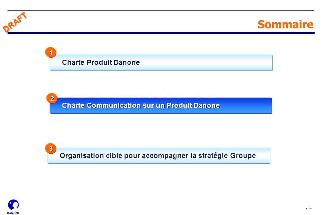 Sommaire DRAFT Charte Produit Danone
