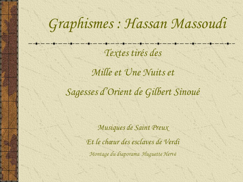 Graphismes : Hassan Massoudi