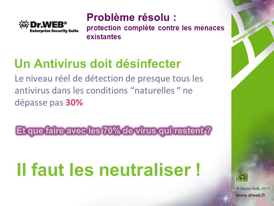 Un Antivirus doit désinfecter