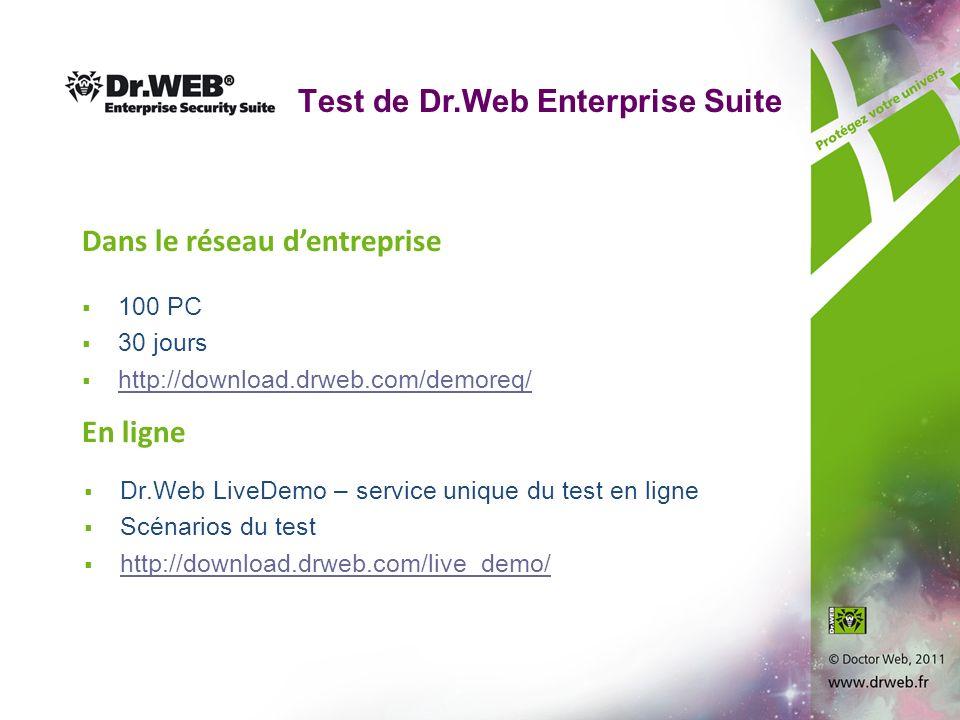 Тest de Dr.Web Enterprise Suite