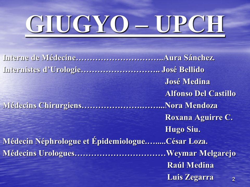GIUGYO – UPCH Interne de Médecine…………………………..Aura Sánchez.