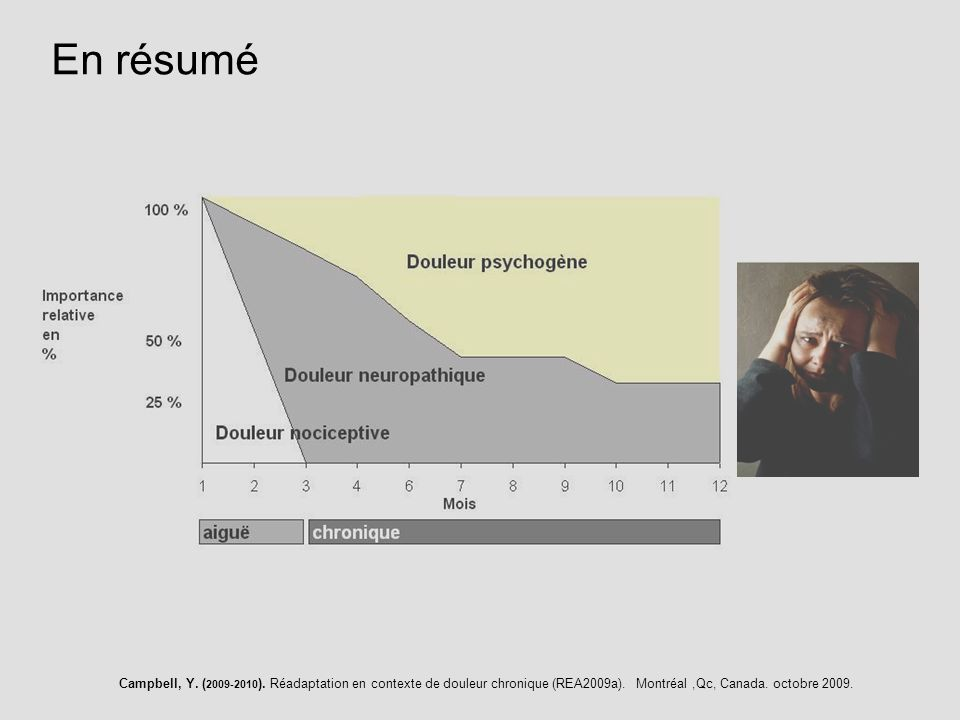 En résumé Campbell, Y. (2009-2010). Réadaptation en contexte de douleur chronique (REA2009a).