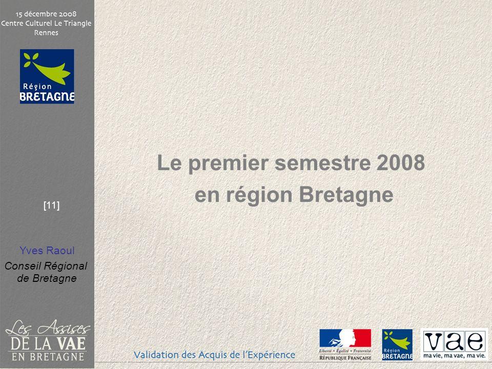Le premier semestre 2008 en région Bretagne