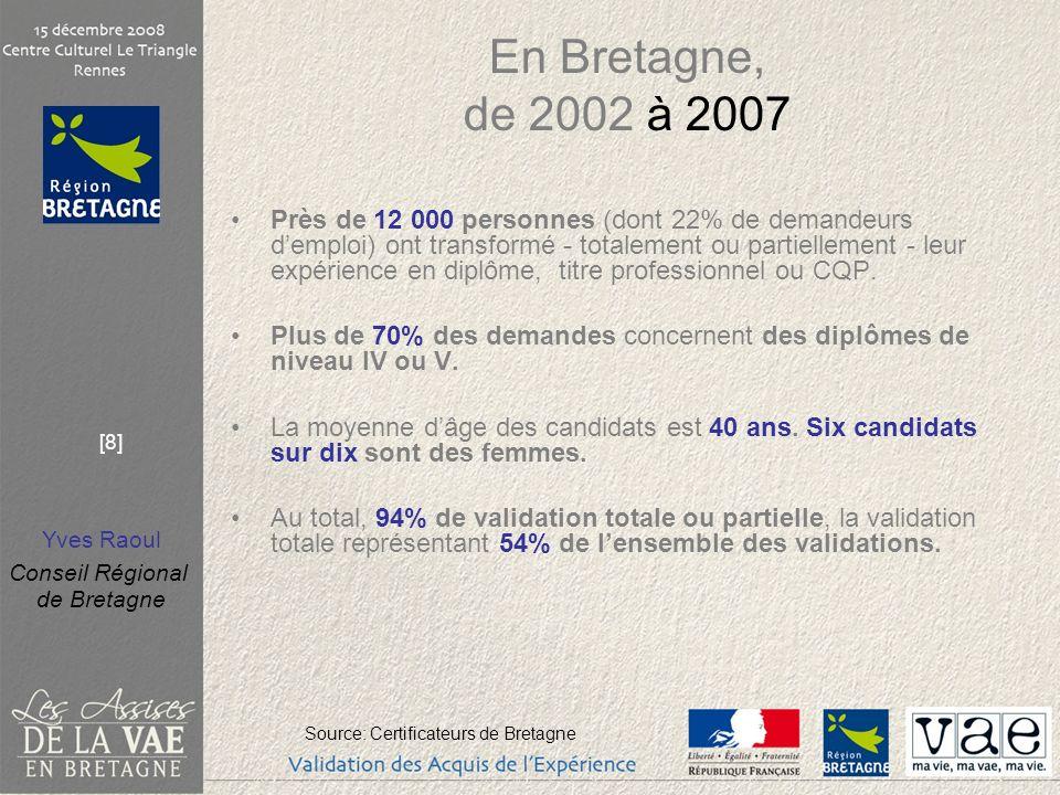 En Bretagne, de 2002 à 2007