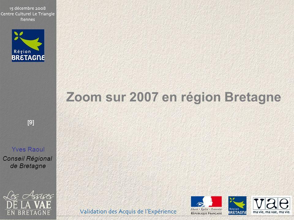 Zoom sur 2007 en région Bretagne