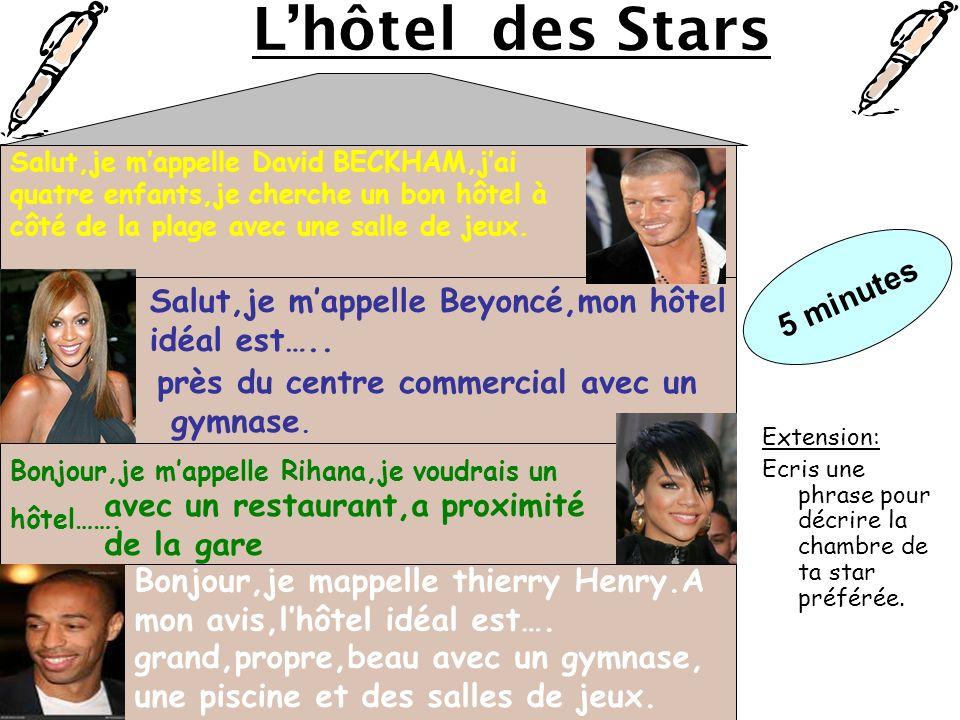L'hôtel des Stars 5 minutes