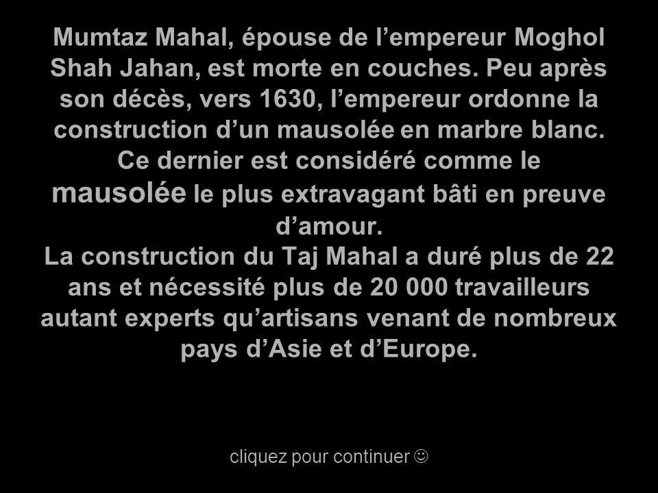 Mumtaz Mahal, épouse de l'empereur Moghol Shah Jahan, est morte en couches.