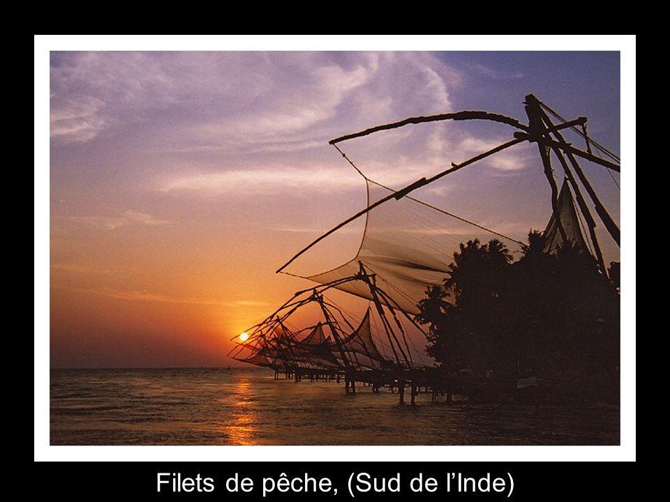 Filets de pêche, (Sud de l'Inde)